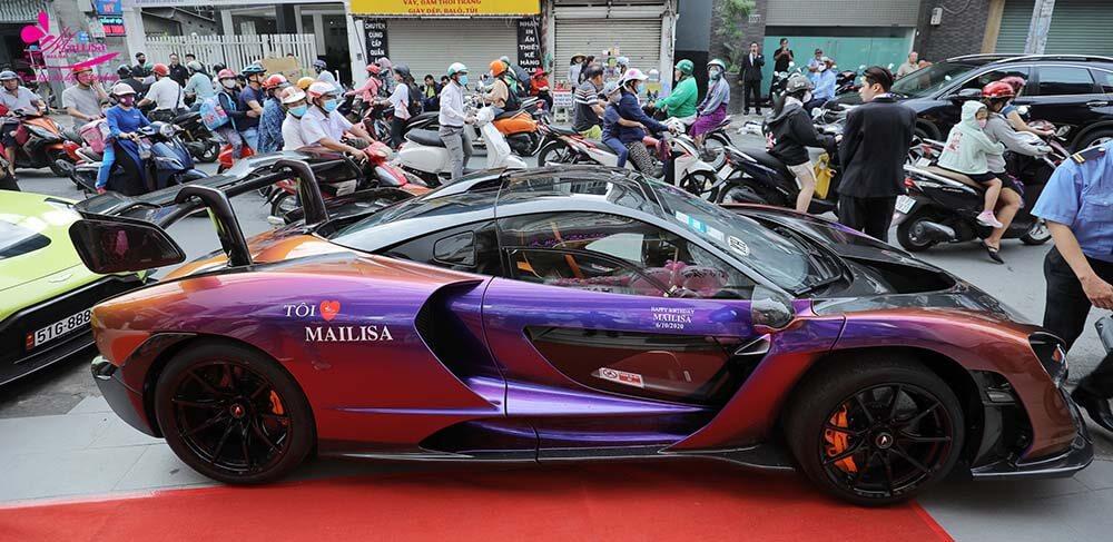 Siêu xe MCLAREN SENNA do Hoàng Kim Khánh dành tặng TGĐ Mailisa